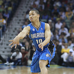 18 February 2009:Orlando Magic guard Tyronn Lue (10) passes the ball during a NBA basketball game between the Orlando Magic and the New Orleans Hornets at the New Orleans Arena in New Orleans, Louisiana.