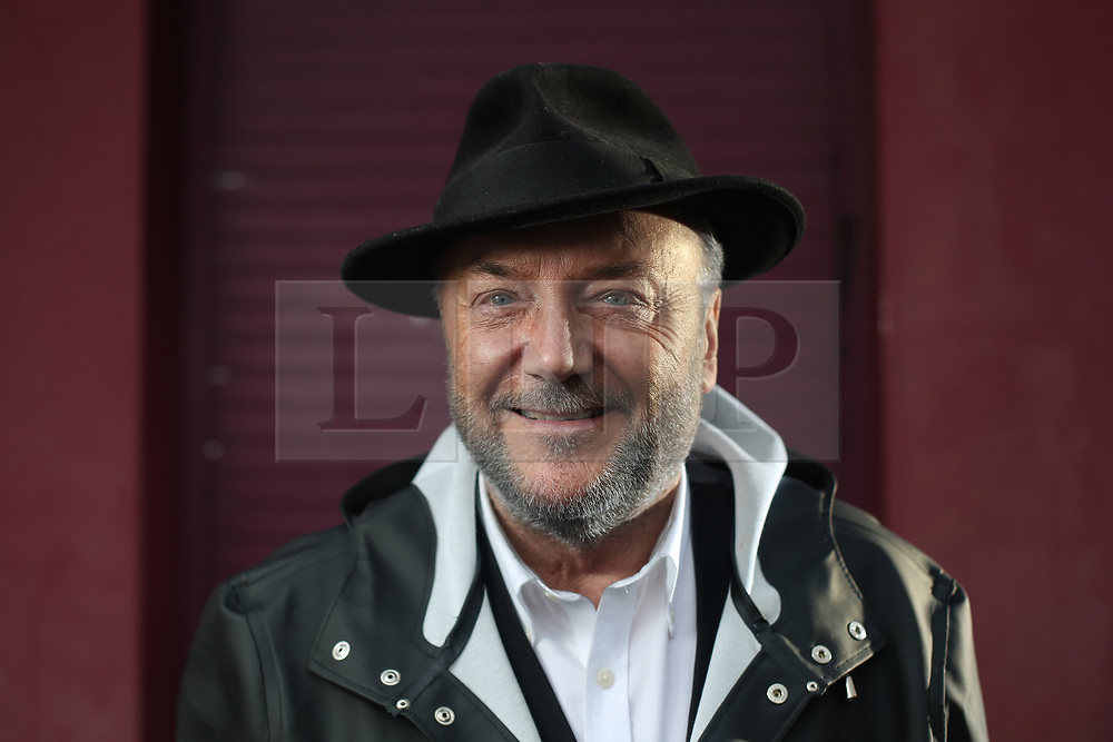 © Licensed to London News Pictures. 01/04/2017. Manchester, UK. George Galloway launches his campaign HQ in the Gorton Manchester by-election. The former Labour and Respect MP is running as an independent in the by-election that was triggered after the death of the long serving Labour MP Sir Gerald Kaufman last month. Labour's candidate Afzal Khan is facing stiff competition not only from George Galloway but also the Liberal Democrats. Photo credit : Ian Hinchliffe/LNP