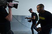 """Daniel """"DC"""" Cormier arrives for the official UFC 187 weigh-in event at the MGM Grand in Las Vegas, Nevada on May 22, 2015. (Cooper Neill)"""