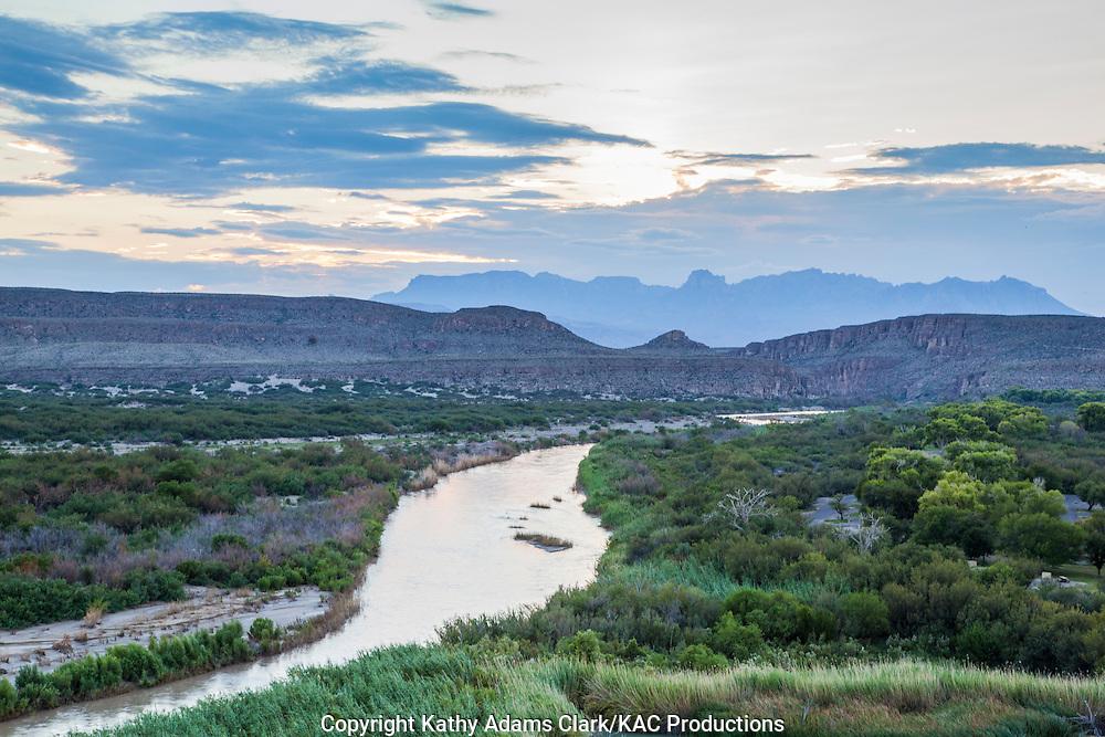 Rio Grande at Big Bend National Park; Chihuahuan Desert; Texas in summer.
