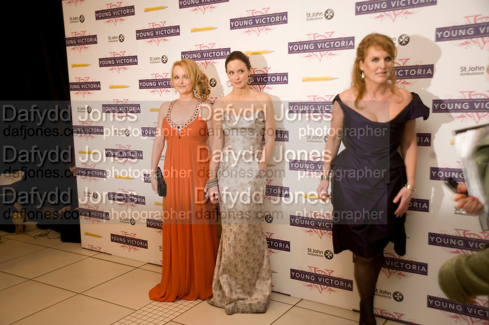 MIRANDA RICHARDSON; EMILY BLUNT; THE DUCHESS OF YORK, The World Premiere of Young Victoria in aid of Children in Crisis and St. John Ambulance. Odeon Leicesgter Sq. and afterwards at Kensington Palace. 3 March 2009 *** Local Caption *** -DO NOT ARCHIVE -Copyright Photograph by Dafydd Jones. 248 Clapham Rd. London SW9 0PZ. Tel 0207 820 0771. www.dafjones.com<br /> MIRANDA RICHARDSON; EMILY BLUNT; THE DUCHESS OF YORK, The World Premiere of Young Victoria in aid of Children in Crisis and St. John Ambulance. Odeon Leicesgter Sq. and afterwards at Kensington Palace. 3 March 2009