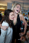 TALLULAH ORMSBY-GORE; POPPY DELEVIGNE, Willow launch.  The Riding House Cafe, Great Titchfield St. London. 22 June 2011. <br /> <br />  , -DO NOT ARCHIVE-© Copyright Photograph by Dafydd Jones. 248 Clapham Rd. London SW9 0PZ. Tel 0207 820 0771. www.dafjones.com.
