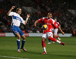 London, England - Saturday, January 13, 2007: Charlton Athletic's Marcus Bent and Middlesbrough's Jonathan Woodgate during the Premiership match at the Valley. (Pic by Chris Ratcliffe/Propaganda)