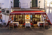 The Orange Tree, restaurant, Plaza Gral. Chinchilla, Marbella, Spain, February, 2019, 201902050339<br /><br />Copyright Image from Victor Patterson, Belfast, UK, BT9 5HG<br /><br />t: +44 28 9066 1296 <br />(from Rep of Ireland 048 9066 1296) <br />m: +44 7802 353836 <br />victorpattersonbelfast@gmail.com <br />www.victorpatterson.com<br /><br />Please see my Terms and Conditions of Use at https://www.victorpatterson.com/page2 <br /><br />It is IMPORTANT that you familiarise yourself with them.<br /><br />Images used on the Internet incur an additional cost and must be visibly watermarked i.e. © Victor Patterson within the body of the image and copyright metadata must not be deleted. Images used on the Internet have a size restriction of 4kbs and are chargeable at rates available at victorpatterson.com.<br /><br />This image is only available for the use of the download recipient i.e. television station, newspaper, magazine, book publisher, etc, and must not be passed on to any third party. It is also downloaded on condition that each and every usage is notified within 7 days to victorpattersonbelfast@gmail.com<br /><br />The right of Victor Patterson to be identified as the author is asserted in accordance with The Copyright Designs And Patents Act (1988). All moral rights are asserted.