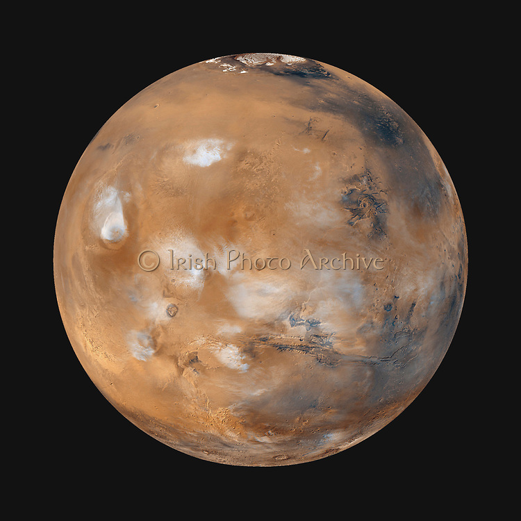 Twelve orbits a day provide the Mars Global Surveyor MOC wide angle cameras a global 'snapshot' of weather patterns across the planet.