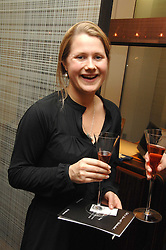 JOANNA DYTCH at a Valentine's Party in aid of Chickenshed held at De Beers, 50 Old Bond Street, London W1 on 6th Fbruary 2008.<br /><br />NON EXCLUSIVE - WORLD RIGHTS
