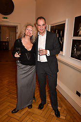 Jake Arnott and Stephanie Theobold at a party to celebrate the publication of The Fatal Tree by Jake Arnott held at The Foundling Museum, 40 Brunswick Square, London, England. 22 February 2017.