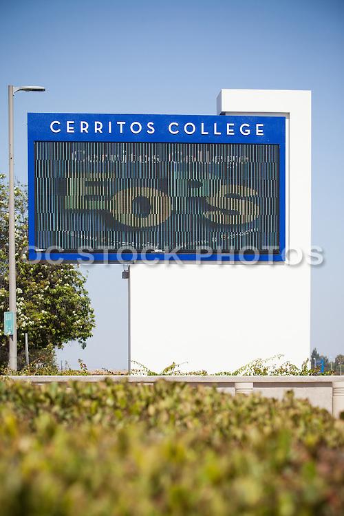 Cerritos College Digital Sign Stock Photo