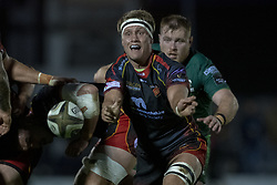 November 3, 2018 - Galway, Ireland - Nic Cudd of Dragons in action during the Guinness PRO14 match between Connacht Rugby and Dragons at the Sportsground in Galway, Ireland on November 3, 2018  (Credit Image: © Andrew Surma/NurPhoto via ZUMA Press)