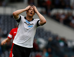 Derby County's Chris Martin shows his frustration - Photo mandatory by-line: Matt Bunn/JMP - Tel: Mobile: 07966 386802 04/08/2013 - SPORT - FOOTBALL -  Pride Park Stadium - Derby -  Derby County v Blackburn Rovers - Sky Bet Championship