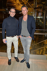 Left to right, Ali Samli and Goran Svilar at the Veryexclusive.co.uk Launch Party held at Watches of Switzerland, 155 Regents Street, London on 20th February 2015.