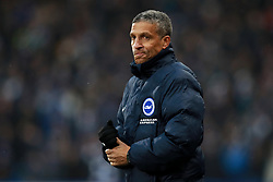 Brighton & Hove Albion manager Chris Hughton during the Premier League match at the John Smith's Stadium, Huddersfield.