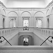 AMSTERDAM, THE NETHERLANDS - FEBRUARY 09th, 2015: Hall of the renovated Stedelijk museum (Municipal Museum) Amsterdam, the Netherlands, in February 2015