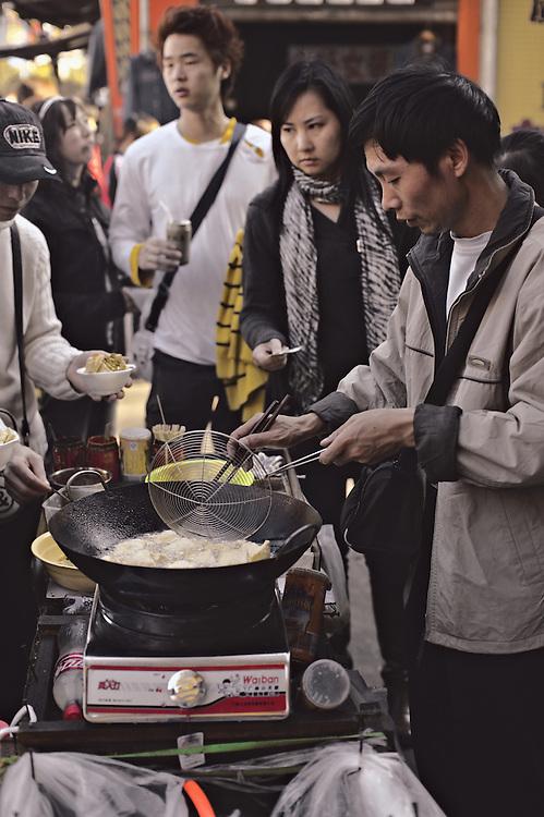 Street food vendor, Guangzhou, China