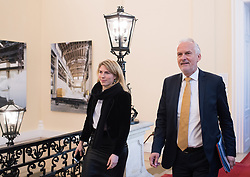 06.03.2019, Bundeskanzleramt, Wien, AUT, Bundesregierung, Sicherheitsgipfel, im Bild Justizminister Josef Moser (ÖVP) mit Pressesprecherin Alexandra Geyer // during an summit regarding to inner security issues at federal chancellors office in Vienna, Austria on 2019/03/06 EXPA Pictures © 2019, PhotoCredit: EXPA/ Michael Gruber