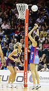 Paula Griffin takes the shot for the Mystics during round 4 of the ANZ Netball Championship - Queensland Firebirds v Northern Mystics. Played at Brisbane Convention Centre. Firebirds (46) defeated the Mystics (40).  Photo: Warren Keir (SMP/Photosport).<br /> <br /> Use information: This image is intended for Editorial use only (e.g. news or commentary, print or electronic). Any commercial or promotional use requires additional clearance.