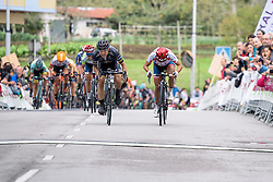 Giorgia Bronzini and Carmen Small sprint finish to stage 3 - Emakumeen Bira 2016 Stage 3 - A 105 km road stage starting and finishing in Berriatua, Spain on 16th April 2016.