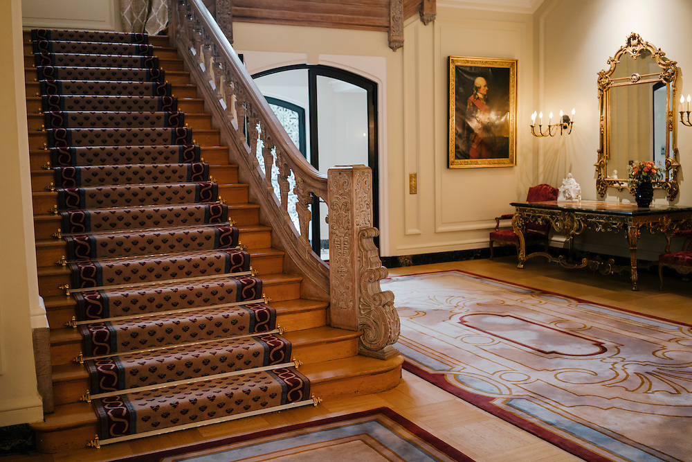 Staircase of the French Ambassador's residence in the Kalorama neighborhood of Washington D.C. France acquired the residence in 1936.