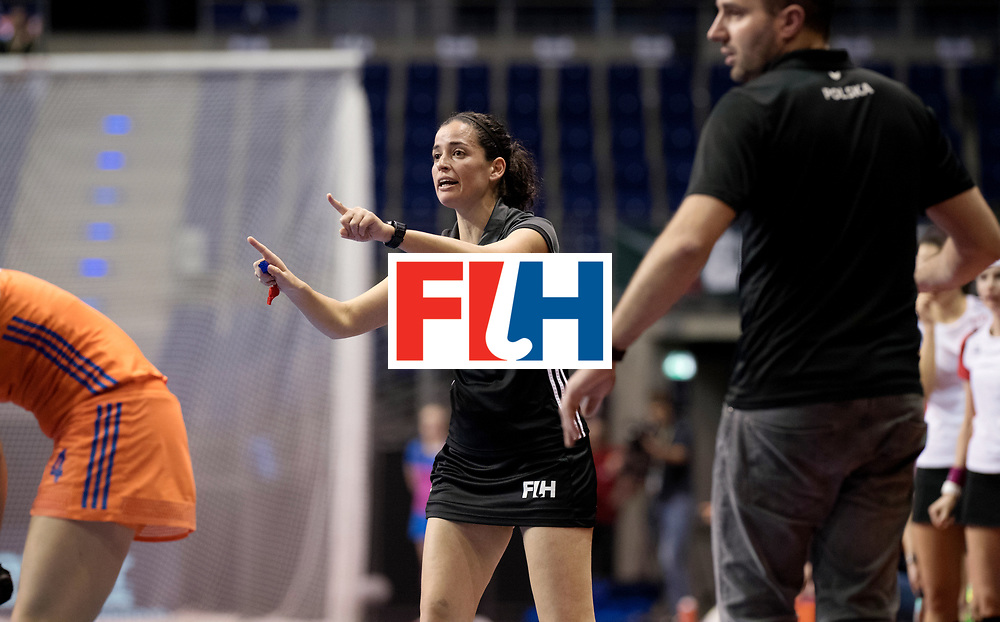 BERLIN - Indoor Hockey World Cup<br /> Women: Poland - Netherlands<br /> foto: Ana Faias.<br /> WORLDSPORTPICS COPYRIGHT FRANK UIJLENBROEK