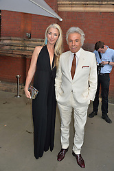 TAMARA BECKWITH and GIANCARLO GIAMMETTI at the V&A Summer Party in association with Harrod's held at The V&A Museum, London on 22nd June 2016.