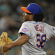 Jenrry Mejia, New York Mets, pitching during the New York Yankees V New York Mets, Subway Series game at Yankee Stadium, The Bronx, New York. 12th May 2014. Photo Tim Clayton