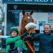 Elysian Prince - Liam Jones winners of<br /> The Coral Handicap<br /> Lingfield Park<br /> 17/2/16.<br /> ©Cranhamphoto.com