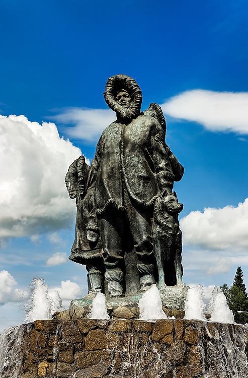 First Family statue, Golden Heart Park Fairbanks, AK, Alaska, USA
