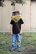 Caden Pratt, 4, little beekeeper for Tampa Bay Times