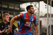 Ben Wynter watches the flight of the ball during the Final Third Development League match between U21 Crystal Palace and U21 Bristol City at Selhurst Park, London, England on 3 November 2015. Photo by Michael Hulf.