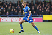 AFC Wimbledon defender Tennai Watson (2) dribbling during the EFL Sky Bet League 1 match between AFC Wimbledon and Burton Albion at the Cherry Red Records Stadium, Kingston, England on 9 February 2019.