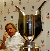 Photo: Richard Lane Photography. Emirates Cup Press Conference. 01/08/2008. The Emirates Cup. Real Madrid manager, Bernd Schuster.