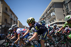 Jenelle Crooks (AUS) of Orica Scott Cycling Team leans into a corner in the third lap of Stage 10 of the Giro Rosa - a 124 km road race, starting and finishing in Torre Del Greco on July 9, 2017, in Naples, Italy. (Photo by Balint Hamvas/Velofocus.com)