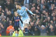 5 John Stones celebrates Raheem Sterlings opening goal for Manchester City during the The FA Cup 3rd round match between Manchester City and Rotherham United at the Etihad Stadium, Manchester, England on 6 January 2019.