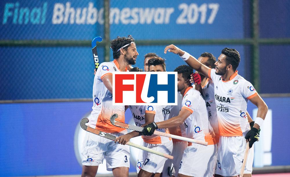 Odisha Men's Hockey World League Final Bhubaneswar 2017<br /> Match id:05<br /> 06 IND v ENG (Pool B)<br /> Foto: goal Rupinder Pal Singh (Ind) <br /> WORLDSPORTPICS COPYRIGHT FRANK UIJLENBROEK