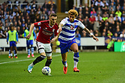 Reading defender Jake Cooper (3) defends against Reading midfielder Daniel (Danny) Williams (23) during the EFL Sky Bet Championship play off second leg match between Reading and Fulham at the Madejski Stadium, Reading, England on 16 May 2017. Photo by Jon Bromley.