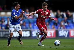 Jamie Paterson of Bristol City goes past Tristan Nydam of Ipswich Town - Mandatory by-line: Robbie Stephenson/JMP - 30/09/2017 - FOOTBALL - Portman Road - Ipswich, England - Ipswich Town v Bristol City - Sky Bet Championship
