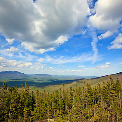 View of Sugarloaf Mountain from the Appalachian Trail on Crocker Mountain in Stratton, Maine.