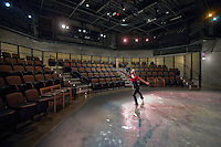 Commercial Photographer of Maryland Interior Image of dancer in theatre at Performing Arts Center at Montgomery College, Bethesda, MD