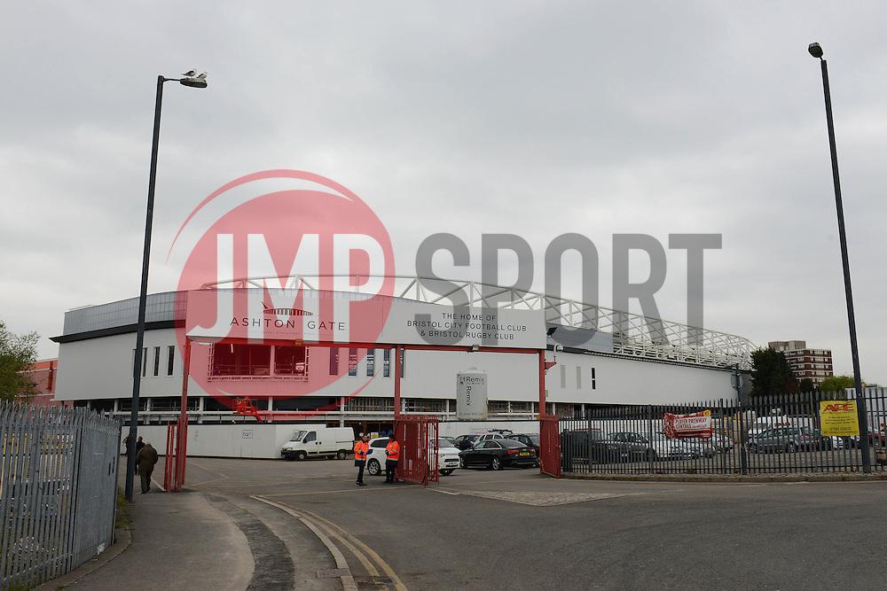 Ashton Gate redevelopment - Photo mandatory by-line: Dougie Allward/JMP - Mobile: 07966 386802 - 02/05/2015 - SPORT - Rugby - Bristol - Ashton Gate - Bristol Rugby v Rotherham Titans - Greene King IPA Championship