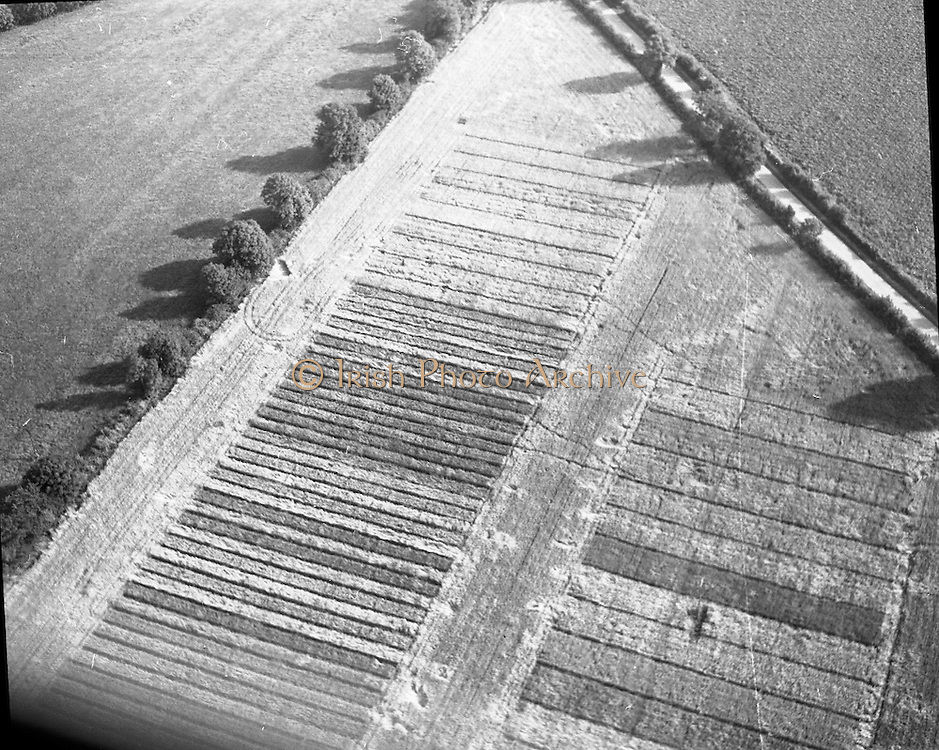 Aerial Views, Bord na Mona<br /> 06/09/1971  Aerial Views, Bord na Mona.<br /> 1971.<br /> 06.09.1971.<br /> 09.06.9171.<br /> 6th September 1971.<br /> <br /> Images show the aerial view of the peatlands currently being harvested by Bord na Mona. Photos, Photo, Snap, Streets, Street,