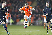 Blackpool's Kyle Vassell (7) on the attack during the The FA Cup 3rd round match between Blackpool and Barnsley at Bloomfield Road, Blackpool, England on 7 January 2017. Photo by Craig Galloway.