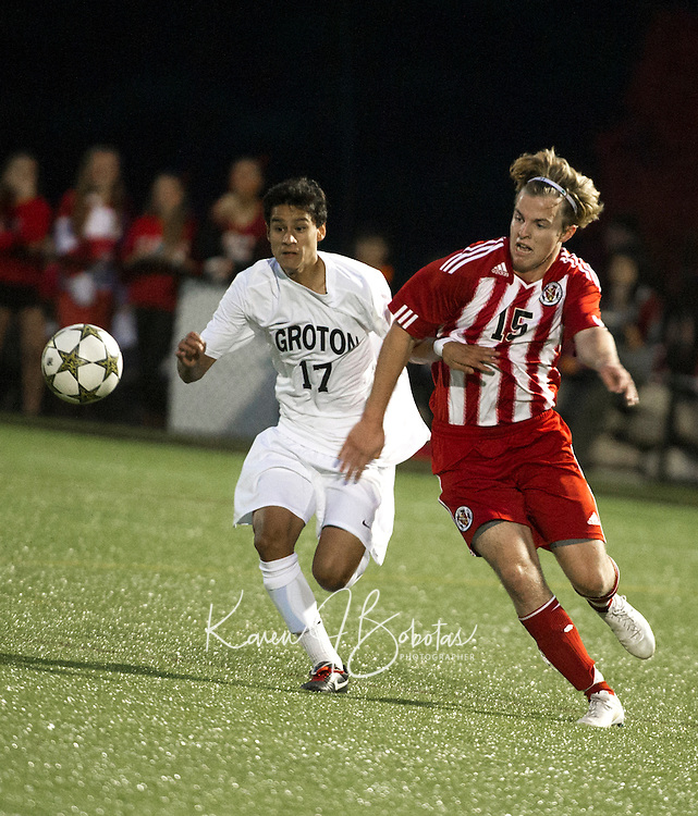 St Paul's School varsity Soccer versus Groton on October, 27, 2012.