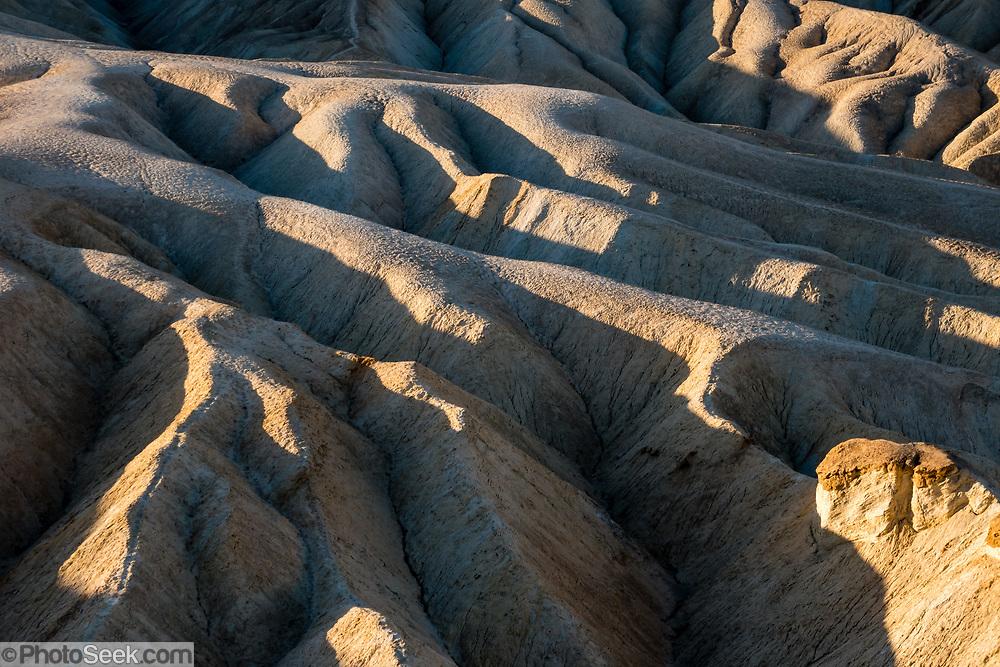 Sunrise seen from Zabriskie Point in Death Valley National Park, California, USA.