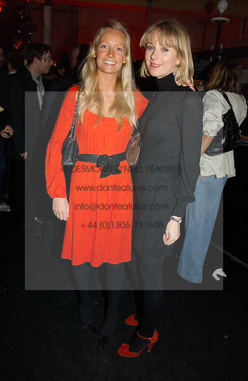 Left to right, MARTHA WARD and TICKY HEDLEY-DENT at a party to celebrate the launch of a range of leather accessories designed by Giles Deacon for Mulberry held at Harvey Nichols, Knightsbridge, London on 30th October 2007.<br />
