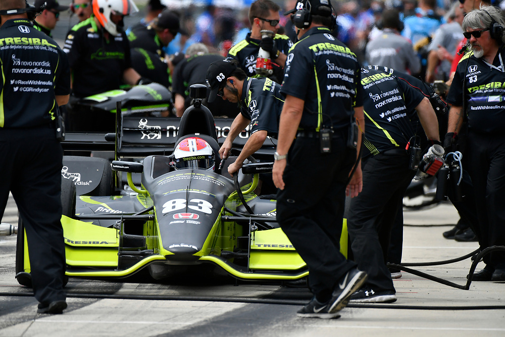 2017 Verizon IndyCar Series<br /> Honda Indy Grand Prix of Alabama<br /> Barber Motorsports Park, Birmingham, AL USA<br /> Saturday 22 April 2017<br /> Charlie Kimball, Chip Ganassi Racing Teams Honda<br /> World Copyright: Scott R LePage<br /> LAT Images<br /> ref: Digital Image lepage-170422-bhm-2502