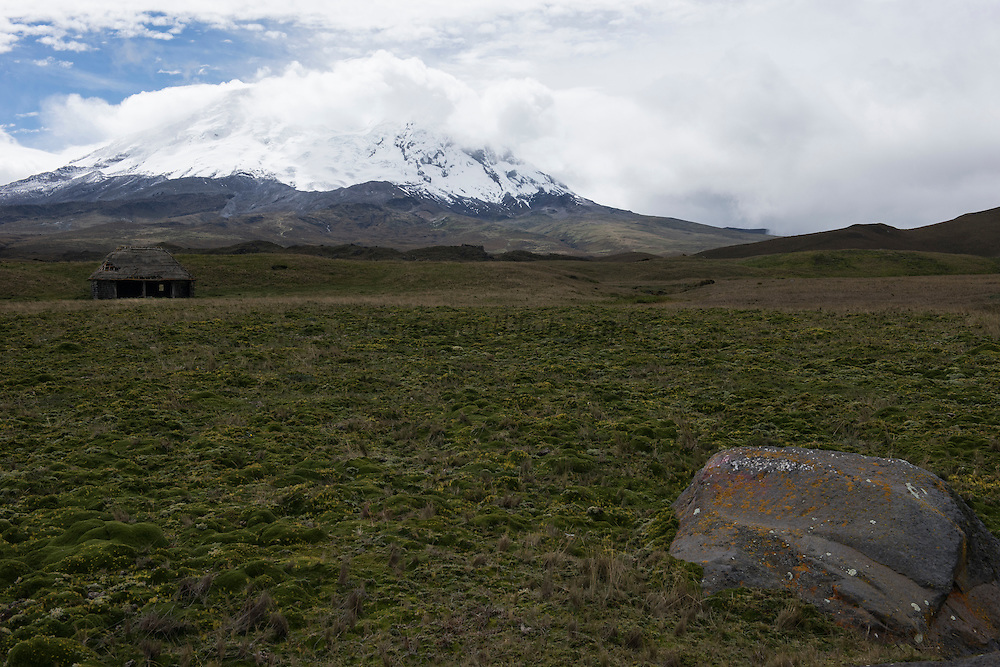 Antisana Volcano <br /> 5,753 meters high or 18,874 ft<br /> Avenue of the Volcanoes<br /> Cordillera Real, Andes<br /> Condor Bioreserve as part of the Antisana Ecological Reserve<br /> ECUADOR, South America<br /> Last erupted between 1801 and 1802