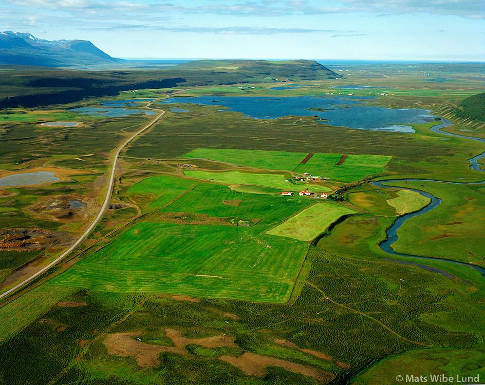 Helgastaðir og Pálmholt séð til norðurs, Þingeyjarsveit áður Reykdælahreppur / Helgastadir and Palmholt viewing north, Thingeyjarsveit former Reykdaelahreppur.j