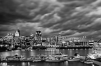 Cincinnati Skyline in black and white