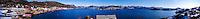 Norway, Sør-Trøndelag, Stokksund. Stitched panorama from Stokkøya island.