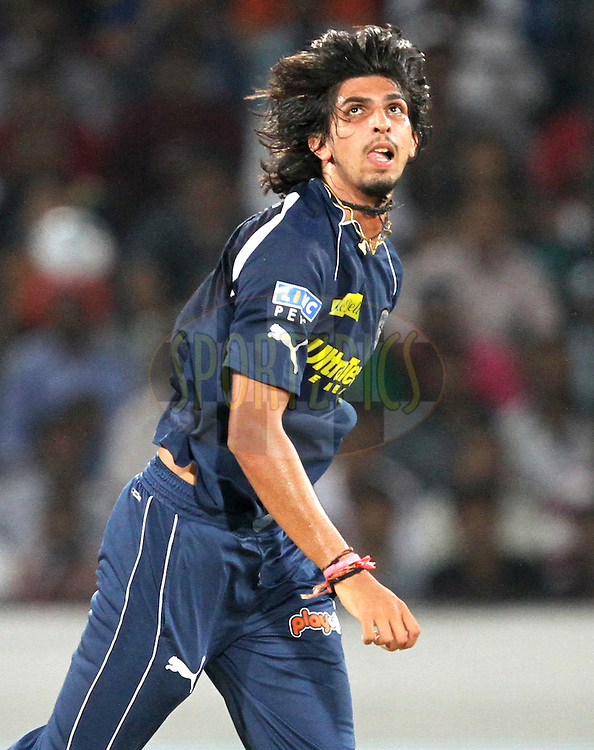 Ishant Sharma of DC during match 11 of the Indian Premier League ( IPL ) between the Deccan Chargers and the Royal Challengers Bangalore held at the Rajiv Gandhi International Cricket Stadium in Hyderabad on the 14th April 2011..Photo by Prashant Bhoot/BCCI/SPORTZPICS.